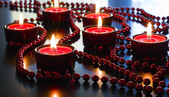 Christmas red candles. — Stock Photo