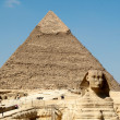 Pyramid of Khafre and Sphinx — Stock Photo #4504504
