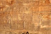 Frescos and hieroglyphs on a wall. — Stock Photo