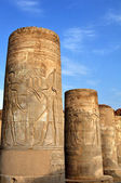 Temple columns in Egypt against the sky — Stock Photo