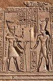 Wall fragment in the Egyptian temple — Stock Photo