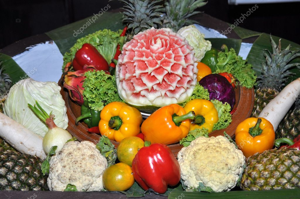 Exotic fruit and vegetables. — Stock Photo © lekavas #5288652