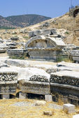 Ancient Ruins of Hierapolis. Pamukkale, Turkey. — Foto de Stock