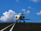 The plane — Stok fotoğraf