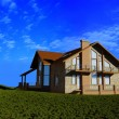 Stock Photo: Modern cottage
