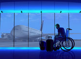 Uomo con disabilità — Foto Stock