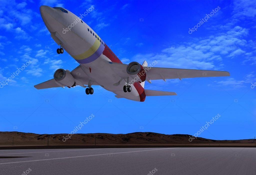 飞机跑道ppt素材