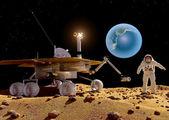 The spacecraft — Foto de Stock