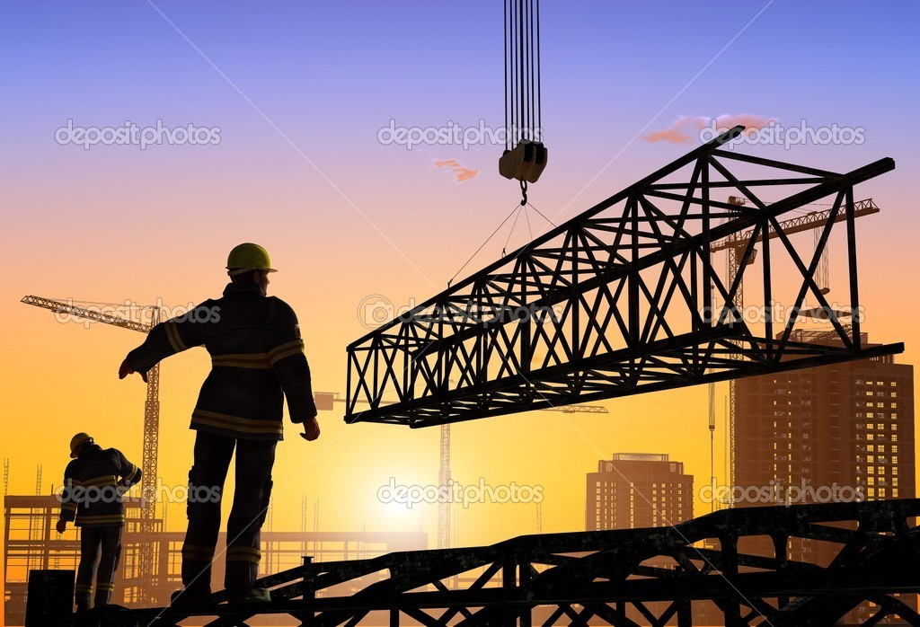 Work on the construction at night       — Foto Stock #4929371