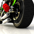 Motor cycle on a mirror background — Stock Photo #4986276