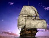 The ancient ship — Stock Photo