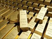 Gold bullion. — Stock Photo