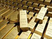 Gold bullion. — Stock Photo