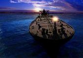 The cargo ship — Stock Photo