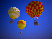 Balloons at sunset — Stockfoto
