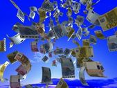 Money from the sky. — Stock Photo