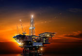 Oil Rig — Fotografia Stock