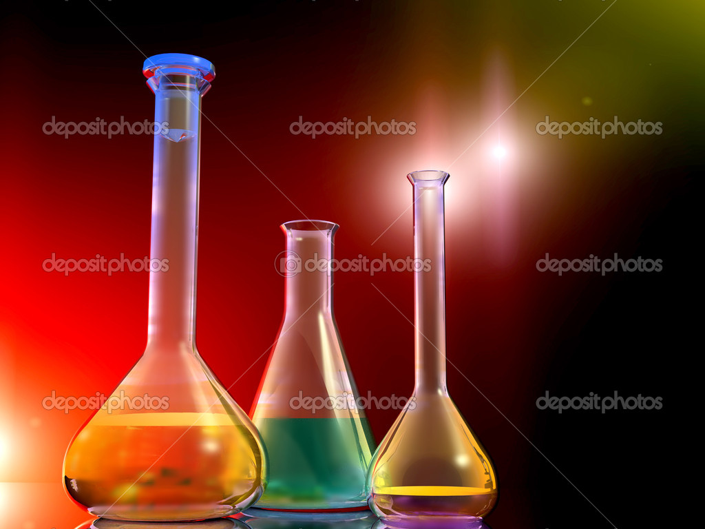Chemical devices on a mirror surface   — Stock Photo #4986390