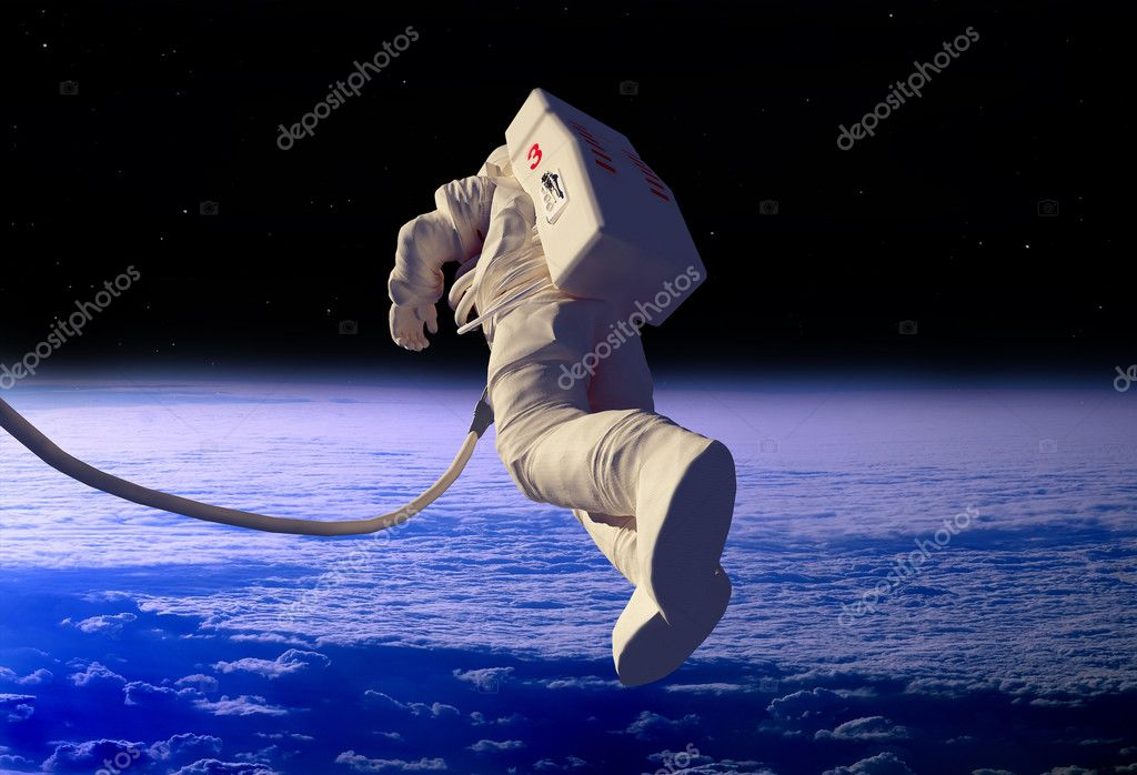 The astronaut  in outer space — Stock Photo #5279738