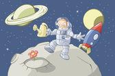 The space gardener — Stock Vector