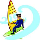 Windsurfing — Stock Vector