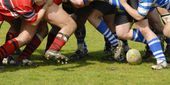 Match de rugby — Stock Photo