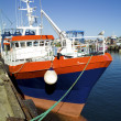 Stock Photo: Chalutier dans le port du guilvinec en bretagne