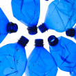 Several blue plastic bottles — Stock Photo #4314064