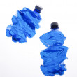 Blue plastic bottles - Stock Photo