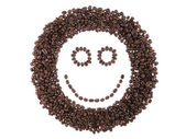 Face of coffee beans — Stock Photo