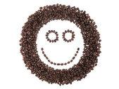 Volto di chicchi di caffè — Foto Stock