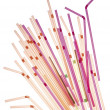 Colored straws — Stock Photo