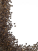 Frame made of coffee beans — Stock Photo