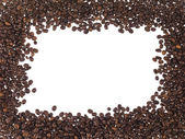Framework made with the coffe in grain — Stock Photo