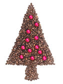 Fir made with the coffee in grain — Stock Photo