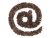 At symbol made with a coffee grain — Stock Photo