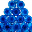 Pile of blue plastic bottles — Stock Photo