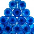 Pile of blue plastic bottles - Stock Photo