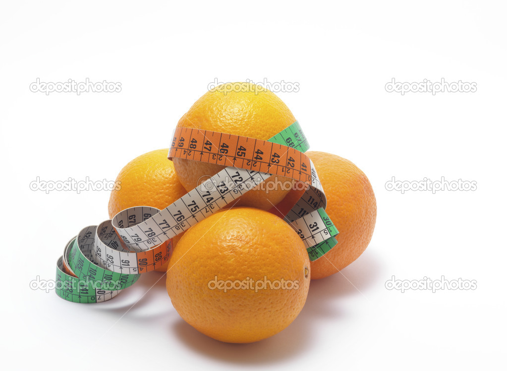 Pile of orange fresh fruit on white background  — Stock Photo #4998340