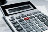Calculator red % symbol. — Stock Photo