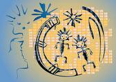 Ethnic graffiti — Stock Vector