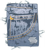 Jeans pocket — Stock Vector