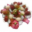 Fruit arrangement – Litchi - Dragon Fruit — Stock Photo #4465234