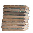 Stack of old antique books — Stock Photo