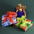 Stock Photo: Set of new years gifts