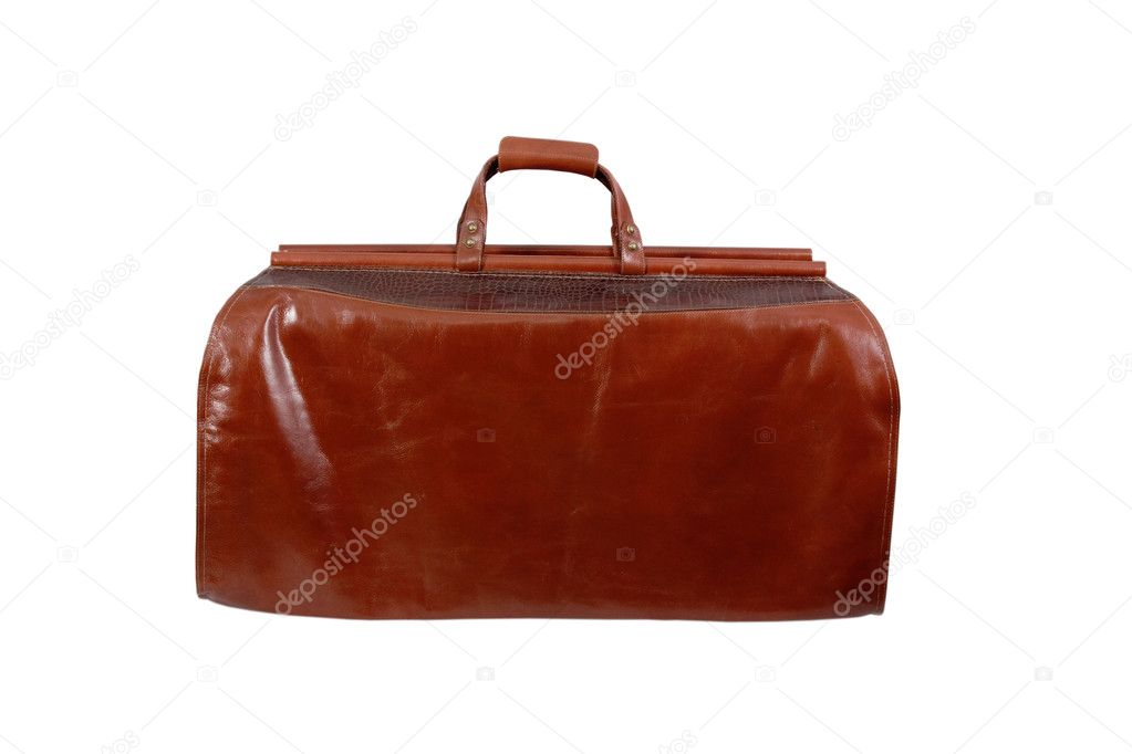 Leather sac voyage  isolated on a white background — Stock Photo #5288308