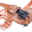 Russian revolver Nagant in a holster — Stock Photo