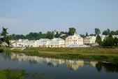 Riverside village — Stock Photo