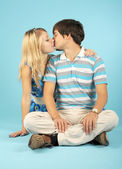 Kissing loving couple — Stock Photo