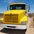Big Yellow Truck - Stock Photo